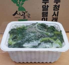 [지보시래기작목반] 냉동삶은 무청시래기(생무청) 4kg(1kg* 4팩)