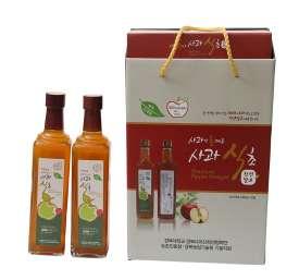 [예천두레원] 천연발효 100% 사과식초 세트(500ml*2개)