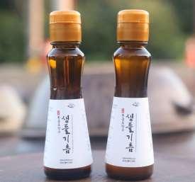 [회룡포장수진품]회룡포장수생들기름160ml