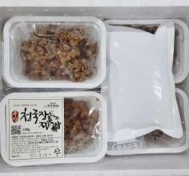 [회룡포장수진품] 전통방식 국산콩100% 무염청국장 100g 10개