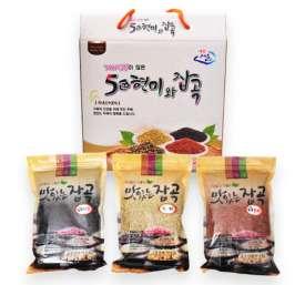 [또바기] 오색현미 혼합잡곡세트 1.5kg (녹미,찰홍미,찰진주 각 500g)