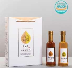 [윤혜숙참기름] 참기름 들기름 300ml 세트 (실)