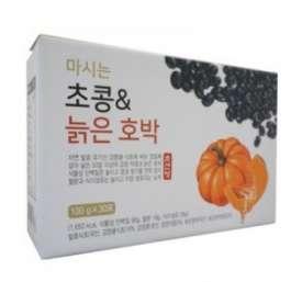 [초산정] 몸에좋은 초콩&늙은호박 즙 1박스(100ml*30팩)